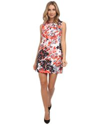 RED Valentino Abstract Flower Print Dress - Lyst