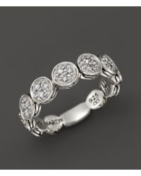 John Hardy Dot Sterling Silver Slim Ring with Pave Diamonds 32 Ct Tw - Lyst