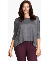 H&M Wide Jersey Top - Lyst