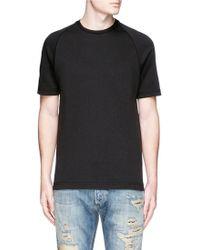 Denham | 'curve' Round Back Yoke T-shirt | Lyst