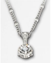 Swarovski Round Solitaire Crystal Pendant Necklace - Lyst