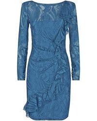 Emilio Pucci Ruffle Lace Dress - Lyst
