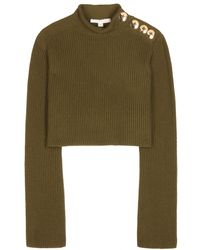 Marc Jacobs Cropped Knitted Sweater - Lyst