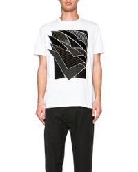 Christopher Kane Men'S Multi Textured Pages Tee - Lyst