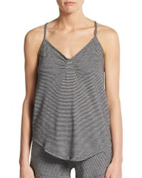 Skin Organic - Jersey Striped Top - Lyst
