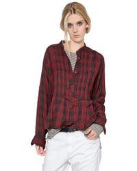 Etoile Isabel Marant Plaid Cotton Flannel Shirt - Lyst