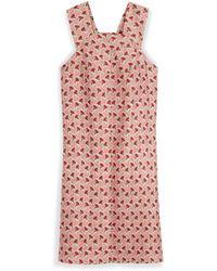 Tory Burch Silk Gazar Square-Neck Dress - Lyst