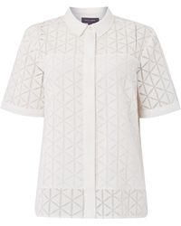 Pied a Terre   Top Geo Burnout Shirt   Lyst