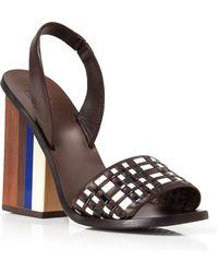 Tory Burch Slingback Sandals - Emori Chunky High Heel - Lyst