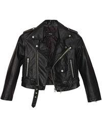 Nasty Gal Moto Zip Crop Jacket black - Lyst