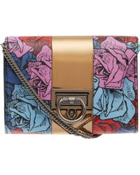 Reece Hudson Multicolour Floral Rider Leather Bag - Lyst