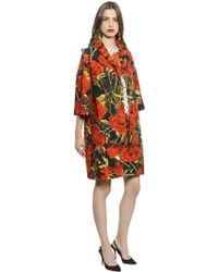 Dolce & Gabbana Rose Printed Cotton Coat - Lyst