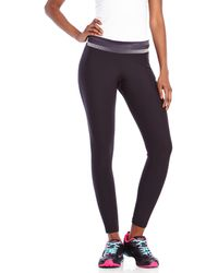 Adidas Black Printed Waist Performance Leggings - Lyst