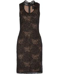 Vera Wang Lace Dress - Lyst