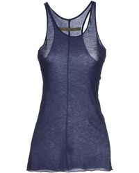 Enza Costa Blue Vest - Lyst