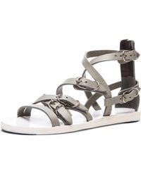 Balenciaga Multistrap Leather Sandals - Lyst