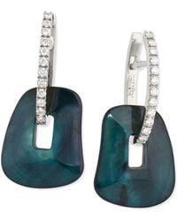 Mattioli - Diamond-trimmed Puzzle Hoop Earrings - Lyst