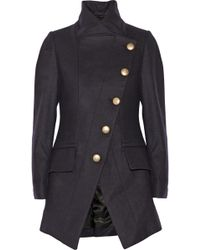 Vivienne Westwood Anglomania State Asymmetric Wool Blend Coat - Lyst