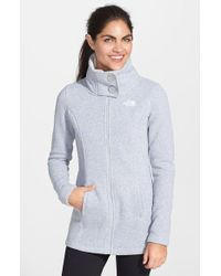 The North Face Lunabrooke Fleece Jacket gray - Lyst