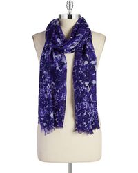 Badgley Mischka Printed Scarf - Lyst