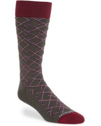 Hook + Albert - 'diagonal Line' Socks - Lyst