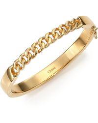 Chloé Carley Chain Bangle Bracelet gold - Lyst