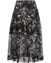 Rochas | Swallow Print Skirt | Lyst