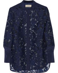 By Malene Birger Liliani Embroidered Organza Shirt - Lyst