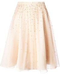 Alice + Olivia Embellished Tulle Skirt - Lyst
