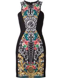 Versace Baroque Aztec-Print Dress - Lyst