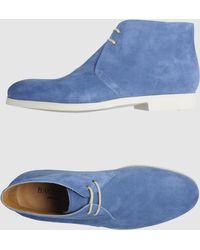 Bagutta High-top Dress Shoe blue - Lyst