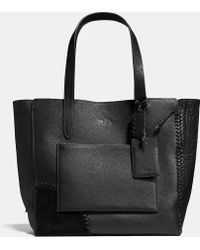 COACH   Rip And Repair Large Manhattan Tote In Mixed Material   Lyst