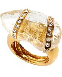Kara Ross - Gold-plated Crystal Wrap Ring - Lyst