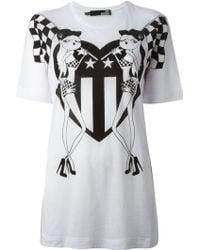 Love Moschino Printed Boyfriend T-shirt - Lyst