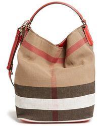 e6c0df520d61 Burberry Brit -  susanna - Medium  Bucket Bag - Lyst