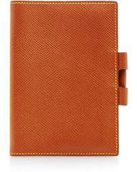 What Goes Around Comes Around Hermes Brown and Yellow Epsom Agenda - Lyst