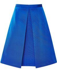 Tibi Katia Pleated Faille Skirt - Lyst