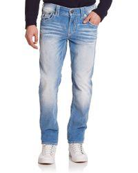 True Religion Geno Slim Straight-Leg Jeans blue - Lyst