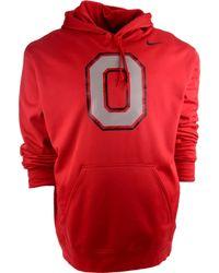 Nike Mens Ohio State Buckeyes Warp Performance Hoodie - Lyst