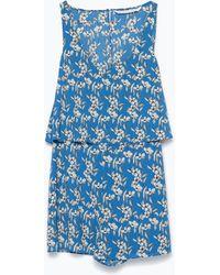 Zara Printed Jumpsuit - Lyst