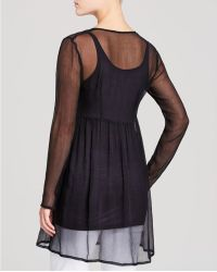 Chan Luu - Sheer Long Sleeve Tunic - Lyst