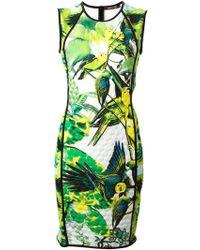 Roberto Cavalli Tropical Parrot Print Dress - Lyst