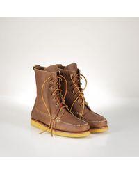 Polo Ralph Lauren Grained Leather Vandan Boot - Lyst