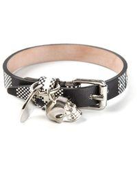 Alexander McQueen Black Checked Bracelet - Lyst