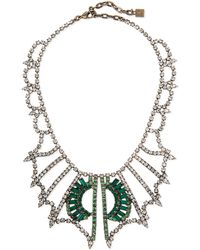 Dannijo Parker Crystal Bib Necklace - Lyst