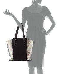 Romy Gold | Iridescent Snake-Embossed Colorblock Tote Bag | Lyst