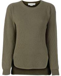 Stella McCartney Dropped-Hem Wool and Cashmere-Blend Sweater - Lyst