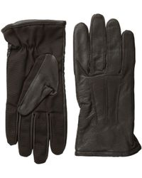 Scotch & Soda - Leather Glove With Canvas Part - Lyst