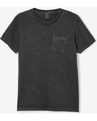 Velva Sheen Pigment Dyed Crew Neck Short Sleeve Tee black - Lyst