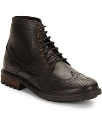 Ben Sherman Sarge Leather Brogue Boots - Lyst